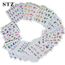 50sheets Retail Mixed Flower 50Styles Water Transfer Sticker