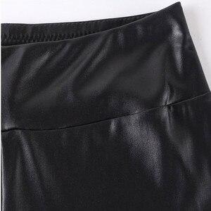 Image 3 - FSDKFAA נשים חותלות שחור גבוה מותן דמוי עור חותלות גבוהה אלסטי למתוח חומר סקיני מכנסיים בתוספת גודל XL XXXXXL