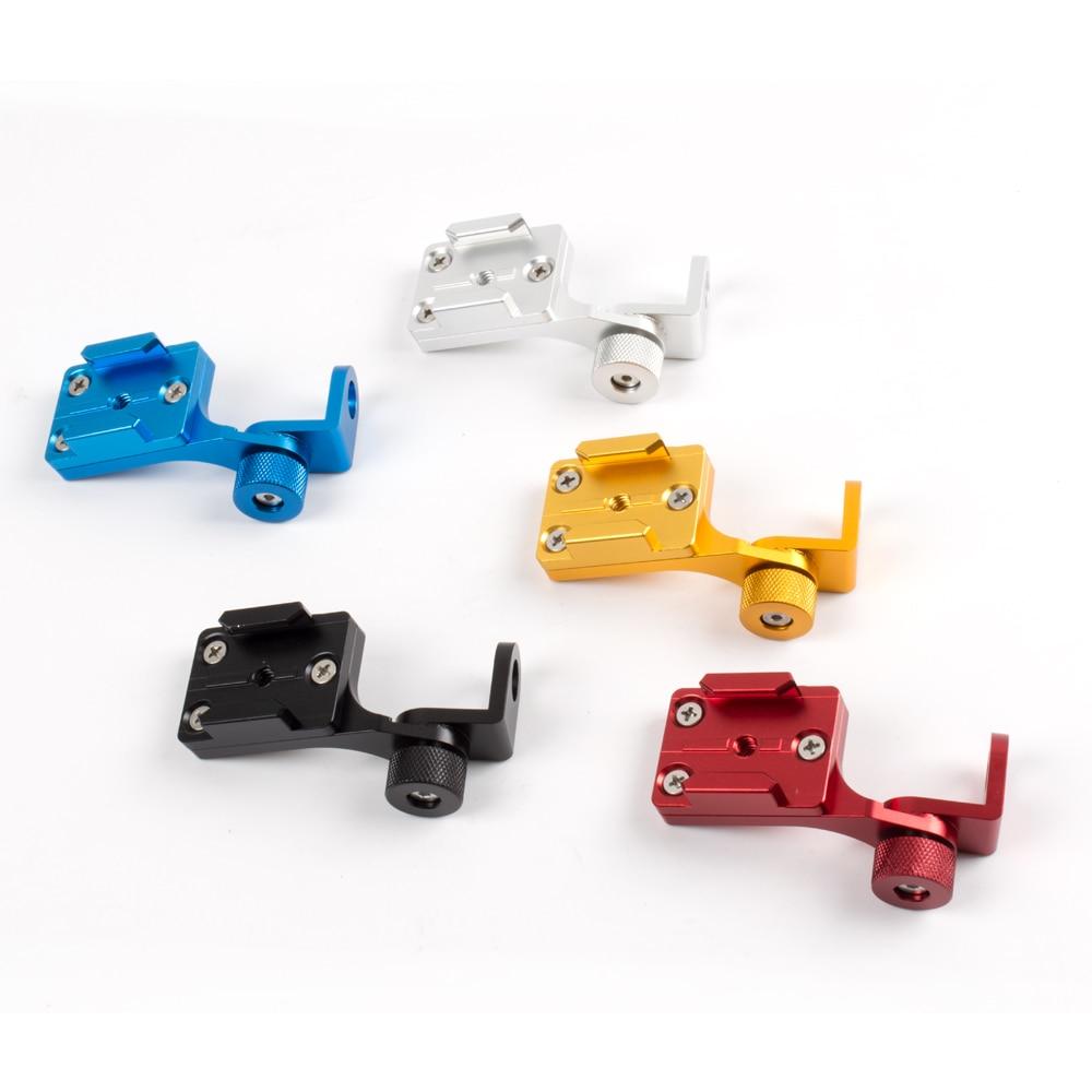 Aluminum Motorcycle Rearview Mirror Mount Bracket Holder for GoPro Hero 4 5 Xiaomi yi SJ4000 SJ5000 Camera Accessories