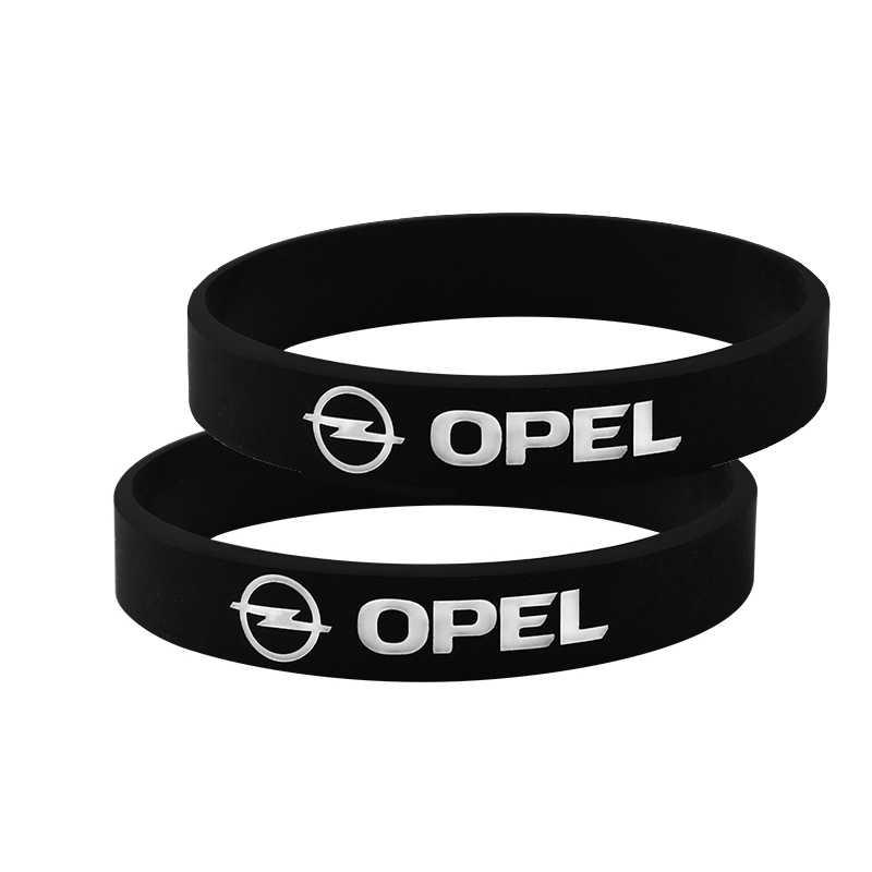 2 Pcs Karet Gelang untuk untuk Opel Astra H G Corsa Insignia Astra Antara Meriva Zafira Mobil Styling Pria Wanita Pergelangan Tangan band Gelang