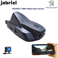 Jabriel скрытый wifi Автомобильный видеорегистратор для 2015 2016 2017 2018 PEUGEOT 2008 Авто 1080 P Dash Cam Автомобильная магнитола двойной объектив камера заднег