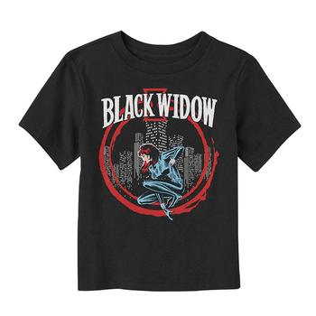 Marvel Toddler's Black Widow Red Circle T-Shirt Mans Unique Cotton Short Sleeves O-Neck T Shirt White O Neck Cotton Top Tee