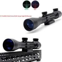 TriRock High Quality C3 9X40 EG Tactical Riflescope Red / Green Laser Optics Sniper Scope Sight Rifle Scope For Hunting