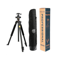 Hot Sale Q360 Professional SLR Aluminum Photographic Tripods Portable Travel Digital Tripod With Ball Head For
