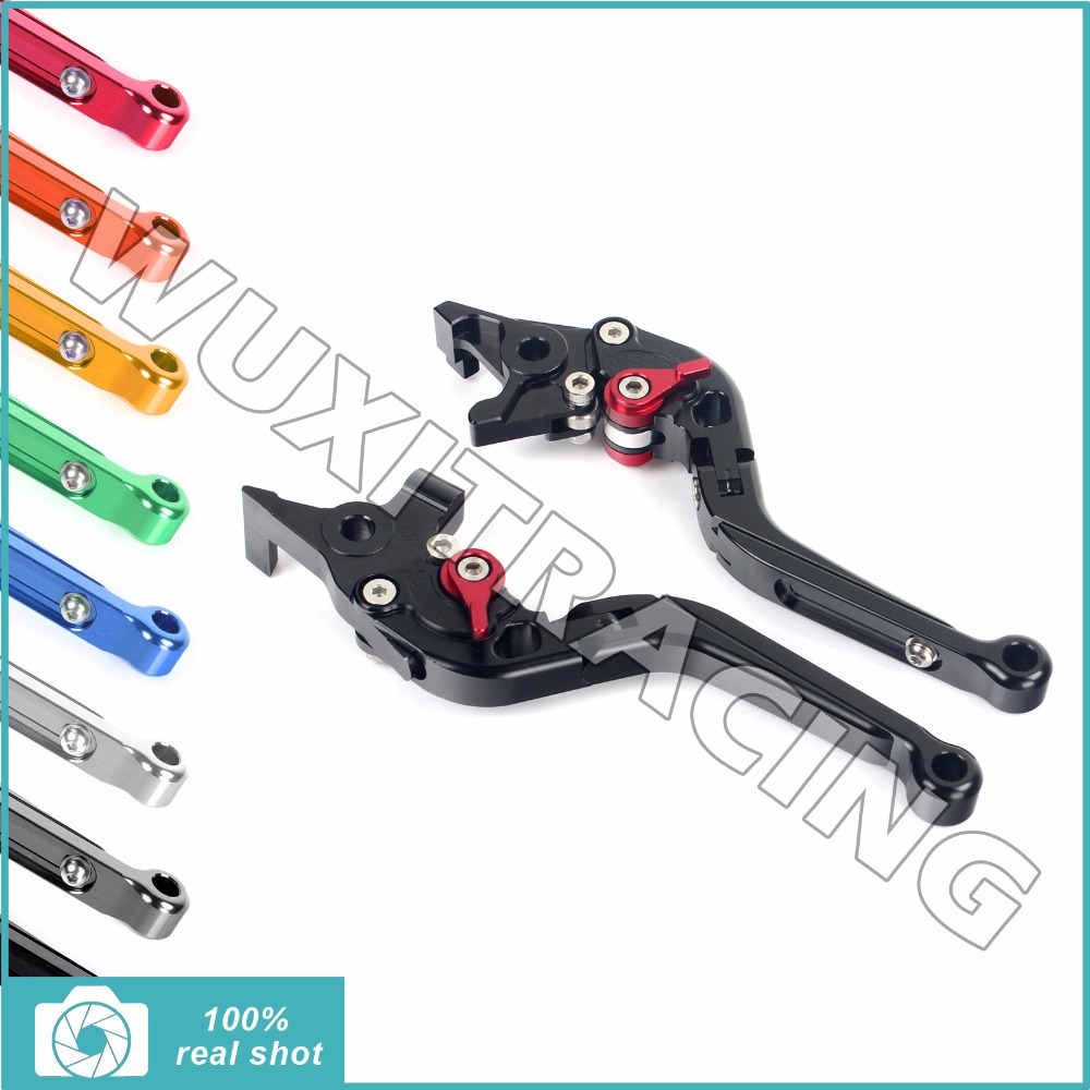 New CNC Billet Extendable Folding Brake Clutch Levers for KAWASAKI Z 750 Z750 2007-2011 2008 2009 2010 Z 800 Z800 2013-2015 2014 for gilera gp 800 2007 2009 motorcycle accessories cnc aluminum folding extendable brake clutch levers black
