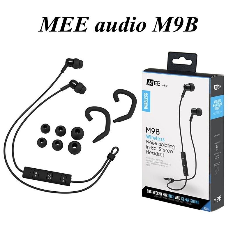Mee audio m9b aislamiento de ruido en la oreja los auriculares estéreo bluetooth