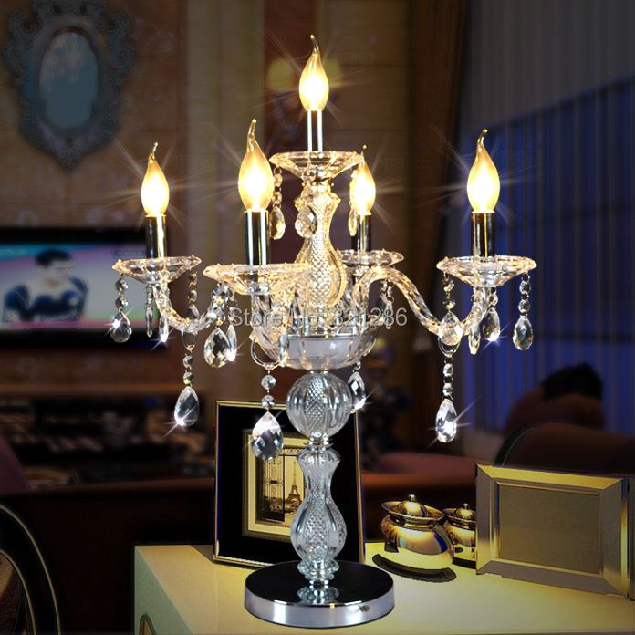Fashion crystal table lamp bed lighting luxury modern married fashion decoration lamp Crystal Desk Lamp Table
