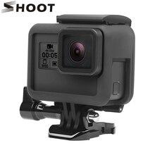 Ateş koruyucu çerçeve kılıf GoPro Hero 7 6 5 siyah eylem kamera sınır kapak konut dağı git pro kahraman 7 6 5 aksesuar
