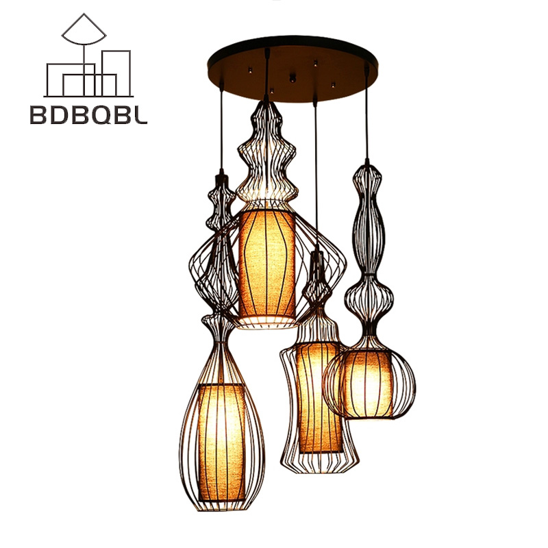 BDBQBL Modern American Pendant Lights for Dining Room Bedroom Pendant Lamp Suspension Luminaire Vintage Home Lighting Hanglamp tz modern pendant lights suspension luminaire noveity hanglamp for home lighting led vintage pendant lamp glass lampshade