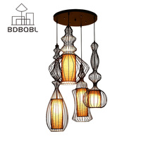 BDBQBL Modern American Pendant Lights for Dining Room Bedroom Pendant Lamp Suspension Luminaire Vintage Home Lighting Hanglamp