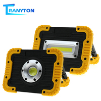 LED Floodlight 30W Outdoor Portable Spotlight Waterproof IP65 COB Flood Light USB Charging Led Work Lamp For Emergency Camping