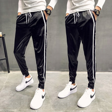 Men's Trousers 2019 Summer Thin Section Feet Pants Trend Slim Sports Pants Youth Beam Pants Casual Men's Clothing Comfortable цена 2017