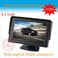 """4.3 """"TFT LCD Car reverter RearView Color Monitor Do Carro Retrovisor Do Carro Da Câmera Digital, frete grátis 1 pçs/lote"""