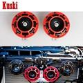 2 Pcs Carro Vermelho Explosão Elétrica Chifre Tom Para Renegado Jeep Wrangler JK grand cherokee para volvo xc90 xc60 s60 v70 s40 s90 v40 v70
