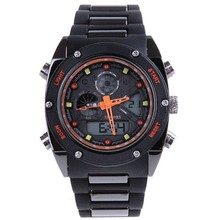 New authentic fashion show watch students waterproof LED luminous multi-functional electronic double men's watch