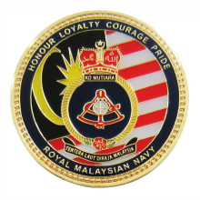 Customized 2D3D Flying Tiger Royal Navy Challenge Coin with Imitation Hard Soft Enamel Epoxy