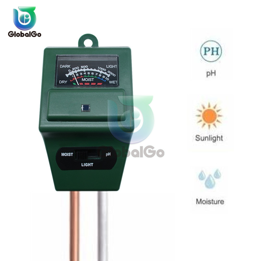 Soil Moisture Measuring Sensor Tester Humidity Hygrometer Hydroponic Gardening Water Plant Flower Soil PH Tester Light Meter
