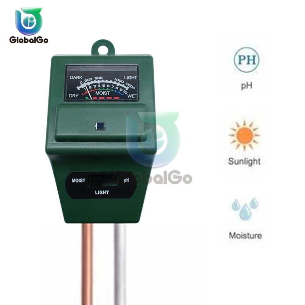 Soil Moisture Measuring Sensor Tester Humidity Hygrometer Hydroponic Gardening Water Plant Flower Soil PH Tester Light Meter