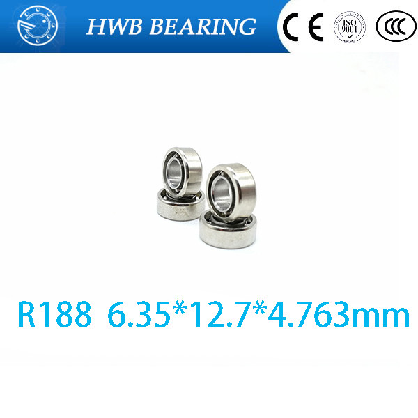 цены  Free shipping 10 pcs R188 open steel 10 balls (6.35 * 12.7 * 4.763MM) miniature ball bearings FOR YOYO HAND SPINNER