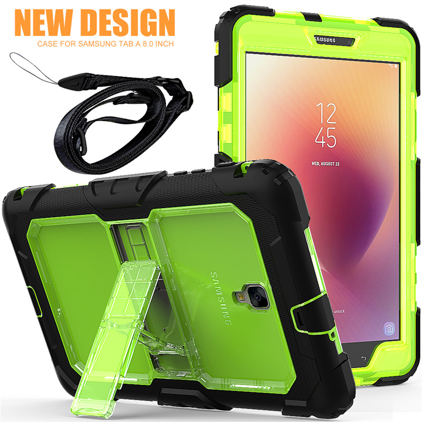 For Samsung Galaxy Tab A 8.0 T380/t385 2017 Stand Case Cover With Kickstand Hand Strap And Shoulder Strap+screen Protector+pen Tablets & E-books Case