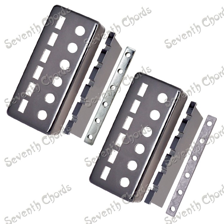 Full set mini style black pick up lid electric guitar humbuckers accessories black frames