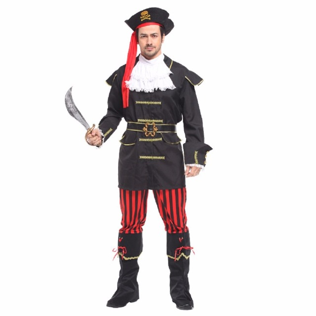 shanghai story mens pirate costume movie captain jack ruthless rogue pirate buccaneer clothing halloween costume black - Story Of Halloween Movie