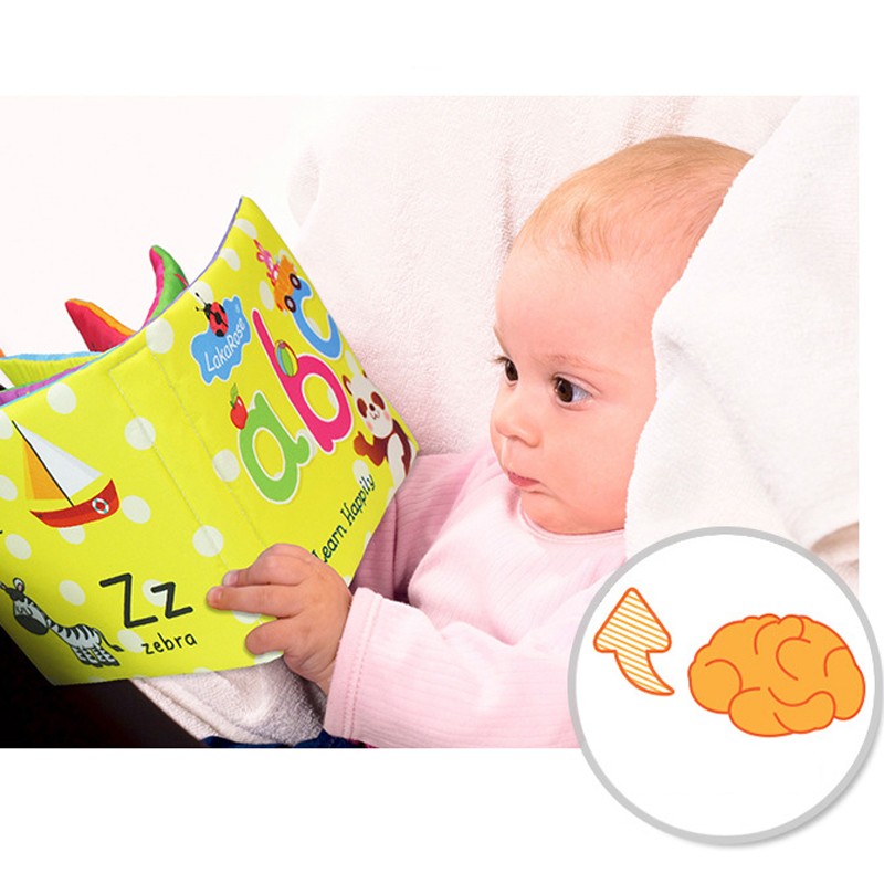 Baby Toys Soft Cloth Books Rustle Sound Infant Newborn Baby Eearly Educational Toys Newborn Crib Bed Baby Toys