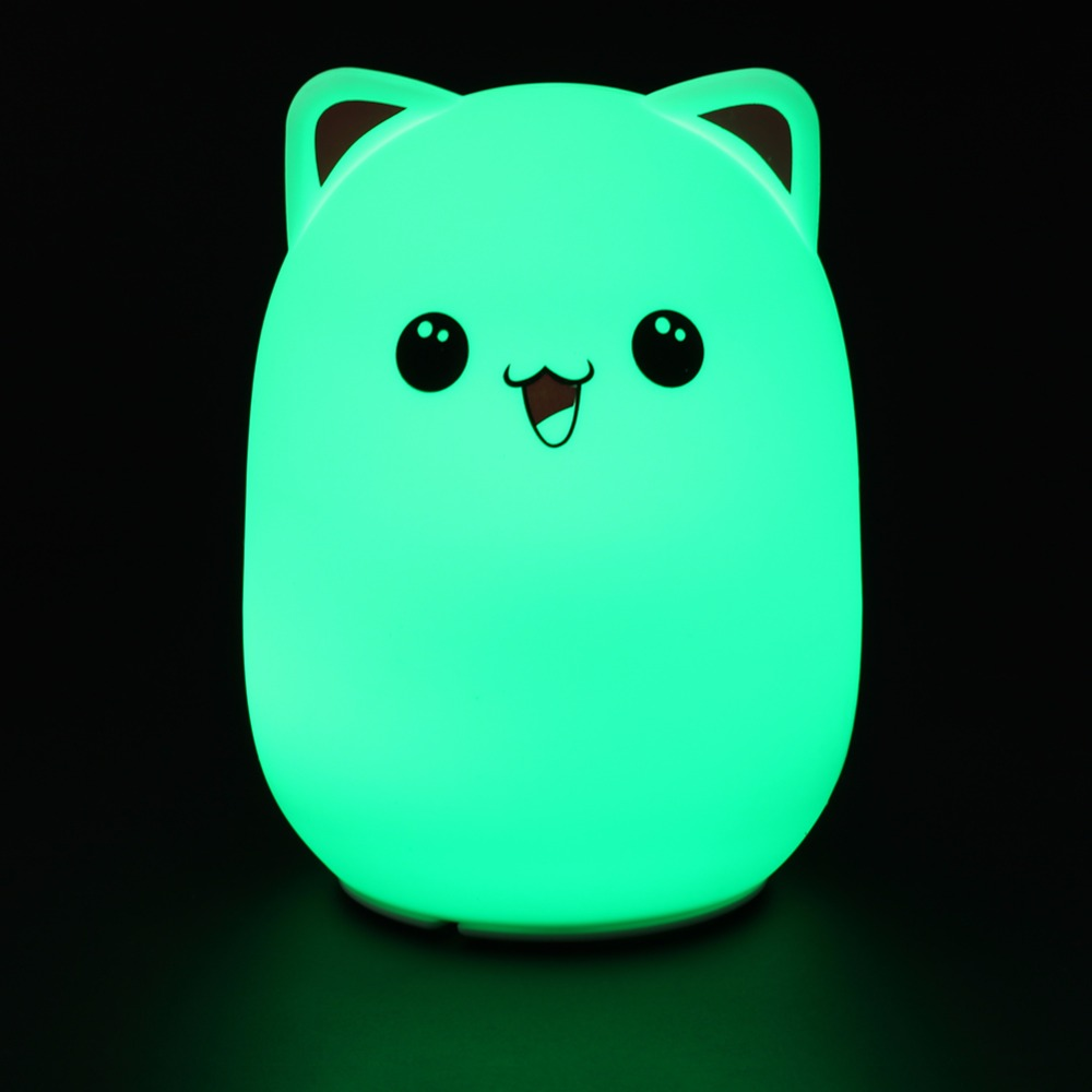 Premium Bedside Lamp Color Changing Silicone Bear LED Night Lights USB Rechargeable Touch Sensor Light Child Cute Night Lamp night light switch night lights 3 6w plastic shade touch lamp ce rohs approved sensor night light