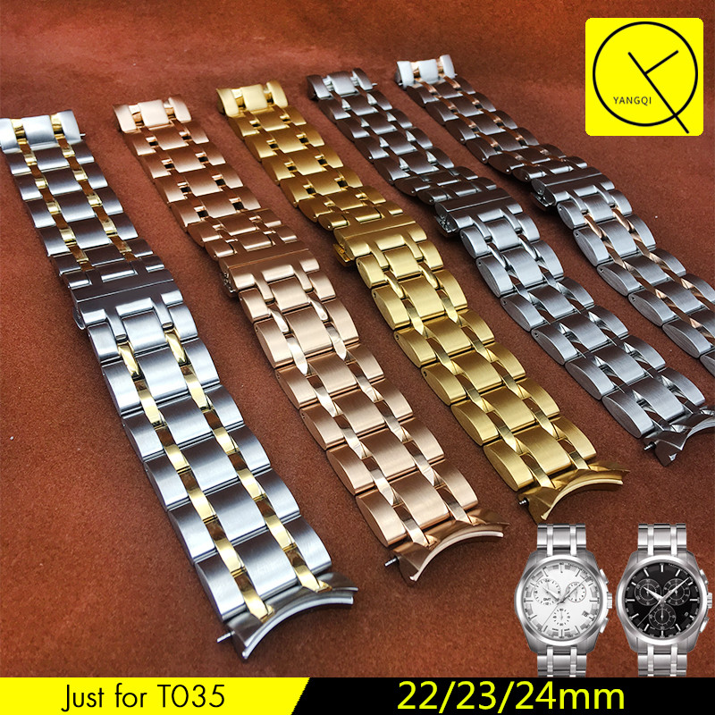 Stainless Steel WatchBand for Tissot Watch 1853 T-CLASSIC COUTURIER T035 Watchstrap 18mm 22mm 23mm 24mmT035627 T035407 T035617 isunzun watch bands for tissot 1853 t045 407a t045 harbor series steel strip brand watch straps stainless steel watch chain