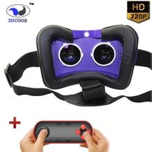 ทั้งหมดในหนึ่งAndroid 3D VRกล่องภาพยนตร์เกมZV15ที่สมจริงแว่นตาความจริงเสมือนgoogleกระดาษแข็ง720จุดhdบลูทูธwifi + gamepad