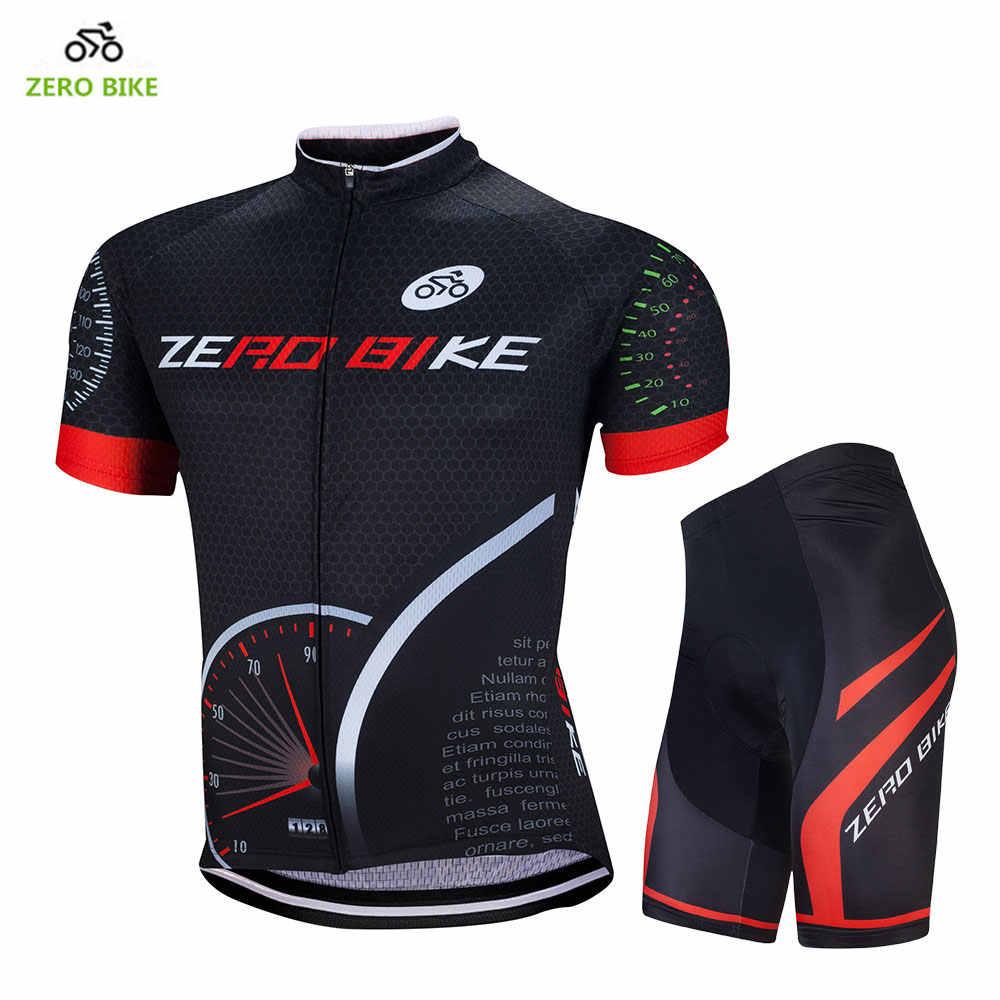 Zero Bike Conjuntos De Ropa Para Ciclismo Pantalones Cortos Con Almohadilla De Gel 4d Jersey De Manga Corta En Color Negro Para Ciclismo De Montana Cycling Sets Mtb Bike Clothingmtb Jersey Cycling