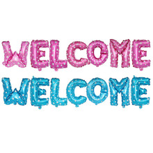 7pcs 12 Inc Welcome Balloon Letter for Celebration Gift Wedding Birthday Party Decoration supplies