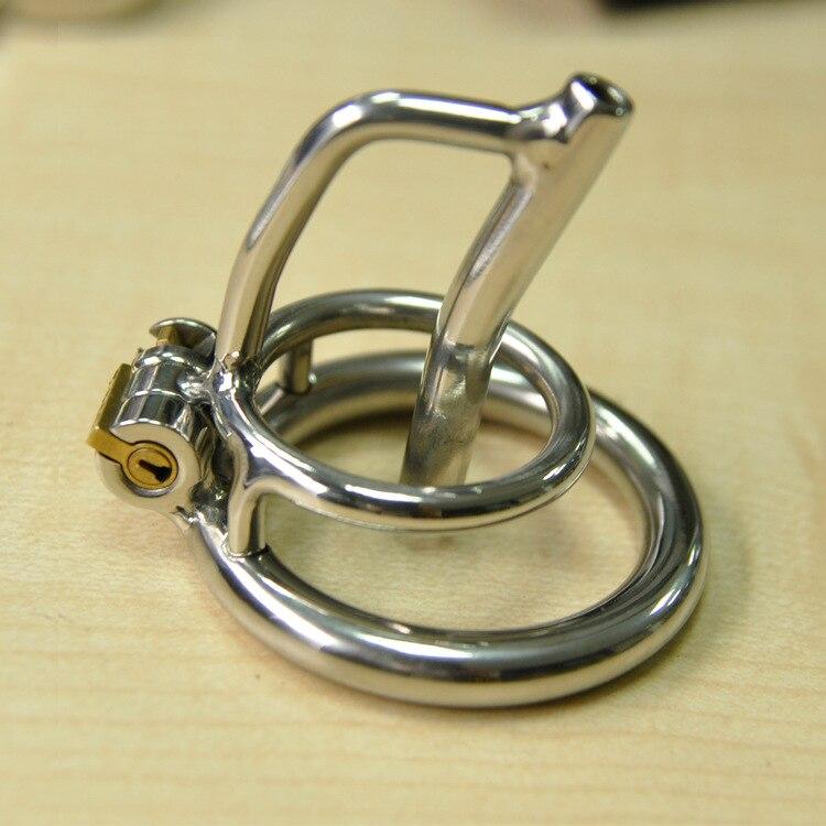 Buy Male CB chastity device CB belt stainless steel metal catheter penis lock chastity urethral penis ring  chastity belt men
