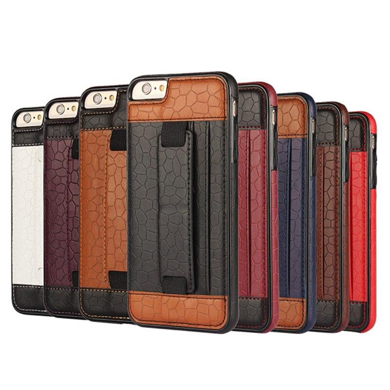 02e544b0ea6 Nueva 3D línea de cuero del fútbol teléfono cubierta caso para APPLE iPhone  6 6 s contraportada con soporte de tarjeta teléfono Celular caso de  protección