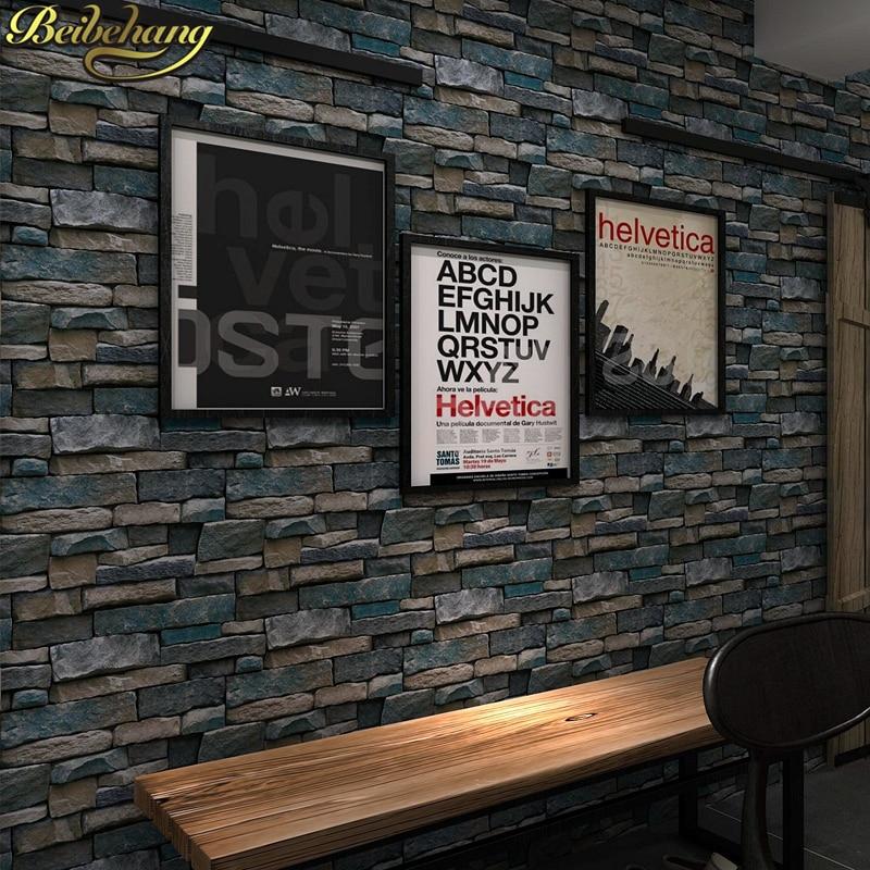 Beibehang PVC bois pierre brique papier peint pour murs 3 d luxe classique Vintage salon fond mur décor papel de parede