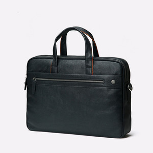 Image 2 - 2019 New Genuine Leather Mens Briefcase Business Black Leather Handbag Casual Shoulder Bag Large Capacity Computer Briefcases