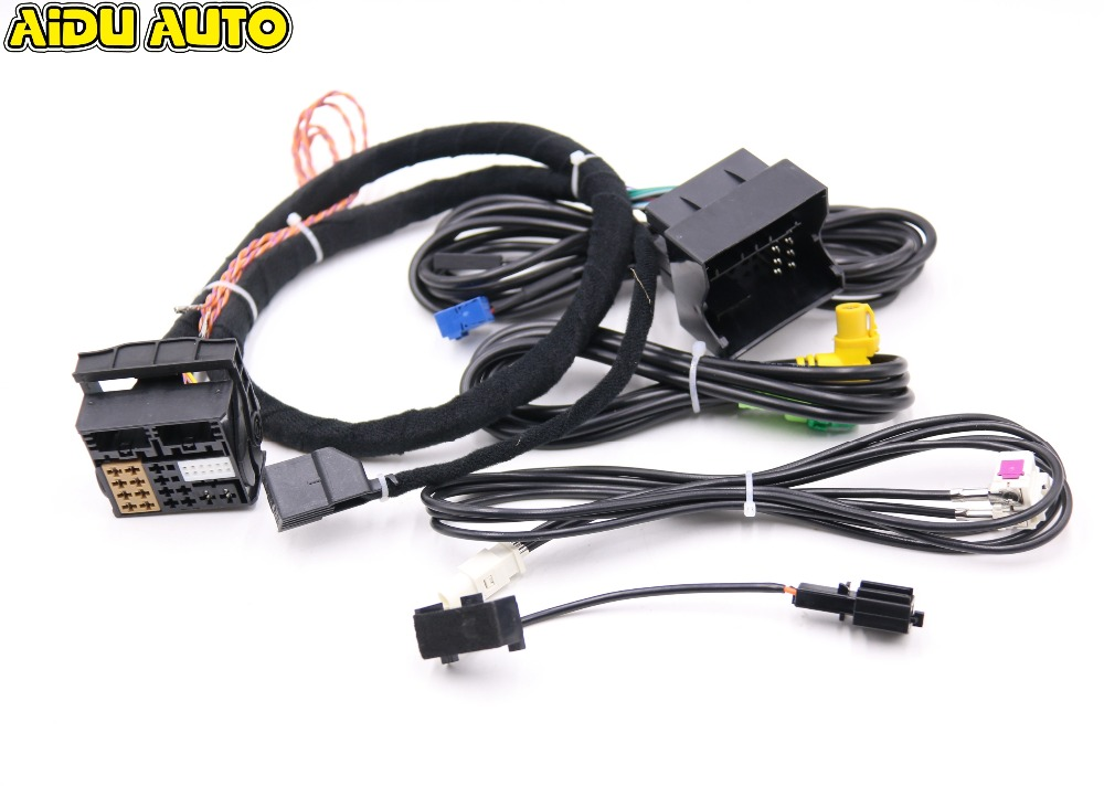 USE FIT FOR Golf 7 MK7 Passat B8 MQB TIGUAN POLO 6C MIB STD2 ZR NAV Discover Pro Radio Adapter Cable Wire harness in Cables Adapters Sockets from Automobiles Motorcycles