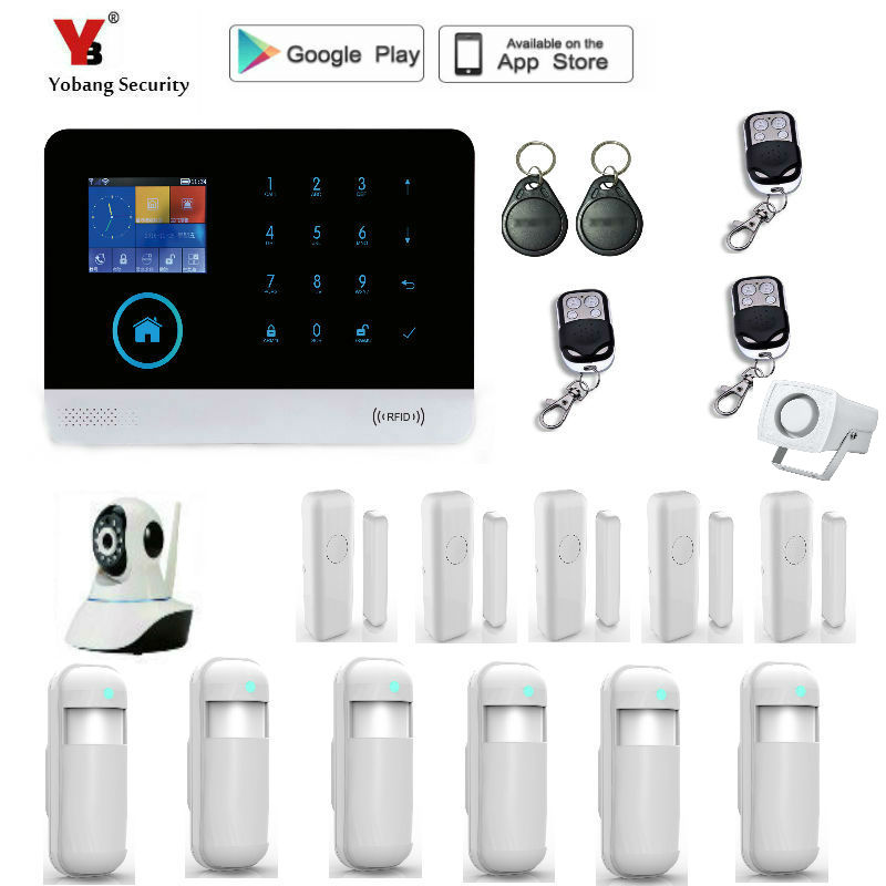 Yobang Security WIFI Alarm Systems WIFI+GSM+GPRS Wifi Automation GSM Alarm System Home Protection GPRS WIFI GSM Alarm System
