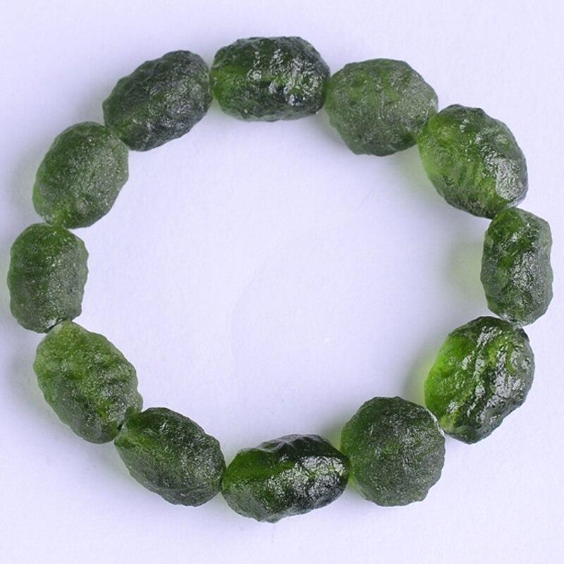 Bracelet de fonds masculin atmosphère météorite verte tchèque
