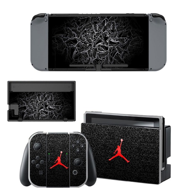 Air Man Jordan NS Game Console Skin and Controller Vinyl Decal Sticker for Nintend Switch Skins Cover Set 1