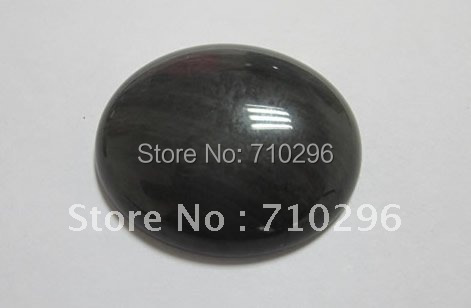 10 pcs/lot Black Obsidian 30*40mm Oval jewelry Cabochons Fashion Jewelry CAB Bead