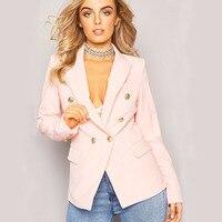 Ladies Blazer Long Sleeve Blazer Women Suit Jacket Female Feminine Blazer Femme Pink White Black Blazer