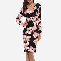 Women Spring Dress hot sale 2018 Spring Summer Russian Style Print Dresses Knee Length Elegant vestidos