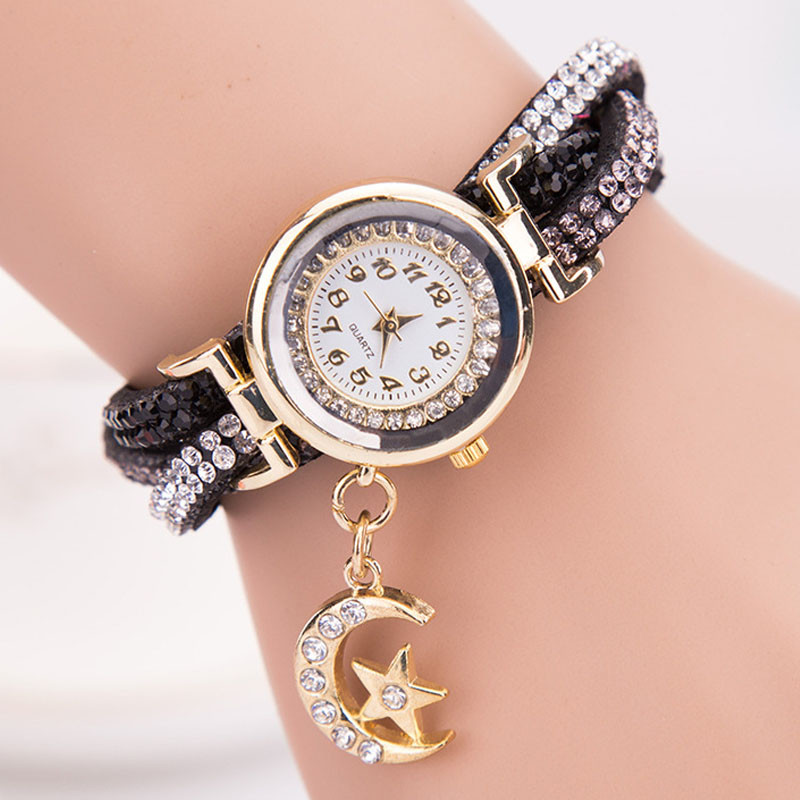 Relogio Feminino Reloj Mujer Watches Gift Women Crystal Band Wave Bracelet Dial Quartz Analog Wrap Wrist Watch july20 brand kimio reloj mujer fashion women pearl bracelet watches crystal dial quartz watch gold women watches relogio feminino clock