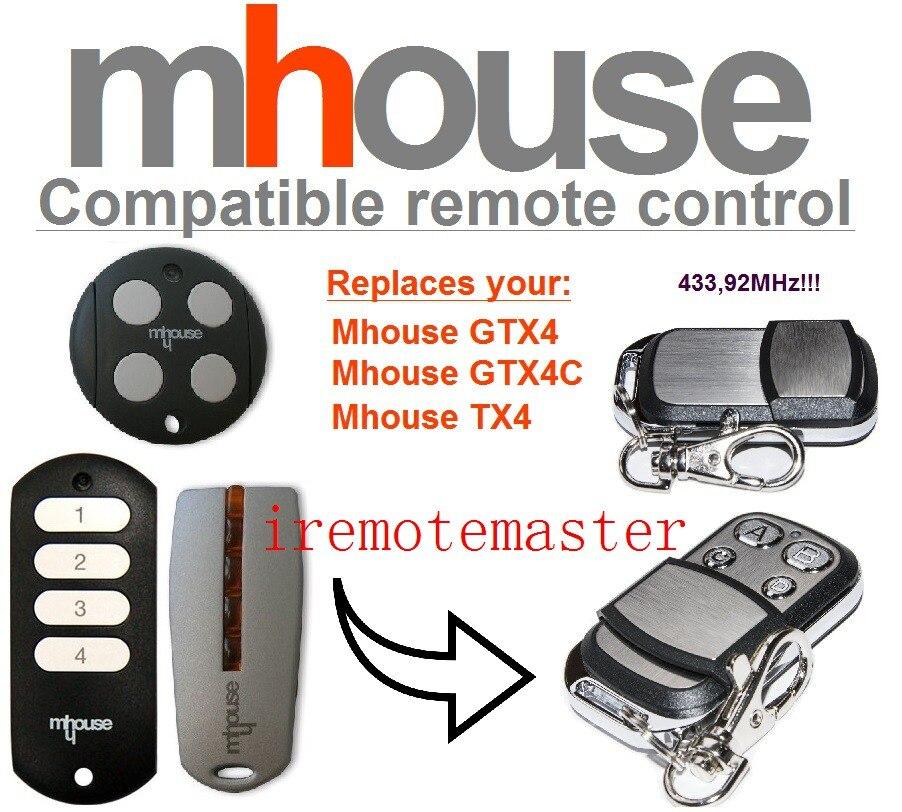 Mhouse Gtx4 Gtx4c Tx4 Remote Control Replacement 433mhz