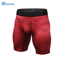 Goexplore Men's Sport Tight Shorts Leisure Summer Fitted Gym Workout Shorts Skinny Football Tennis Running Yoga Short for Male