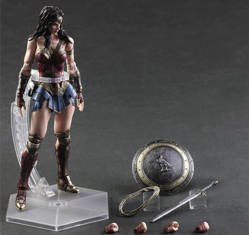 Wonder Woman Desktop Decoration Figure Dolls Birthday Gift For Fans, Super Hero cartoon fight hero star model desktop decoration gift