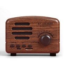 Mini Portable Wood Wireless Bluetooth Speaker Vintage FM Radio TF Card Heavy Bass New Years Gift
