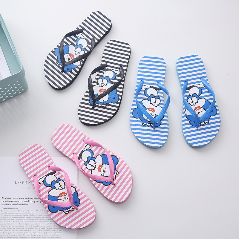 2019 Slippers Summer Hot Sales Couple Word Drag Clown Cartoon Non-slip Men And Women Outdoor Wholesale Slippers Men