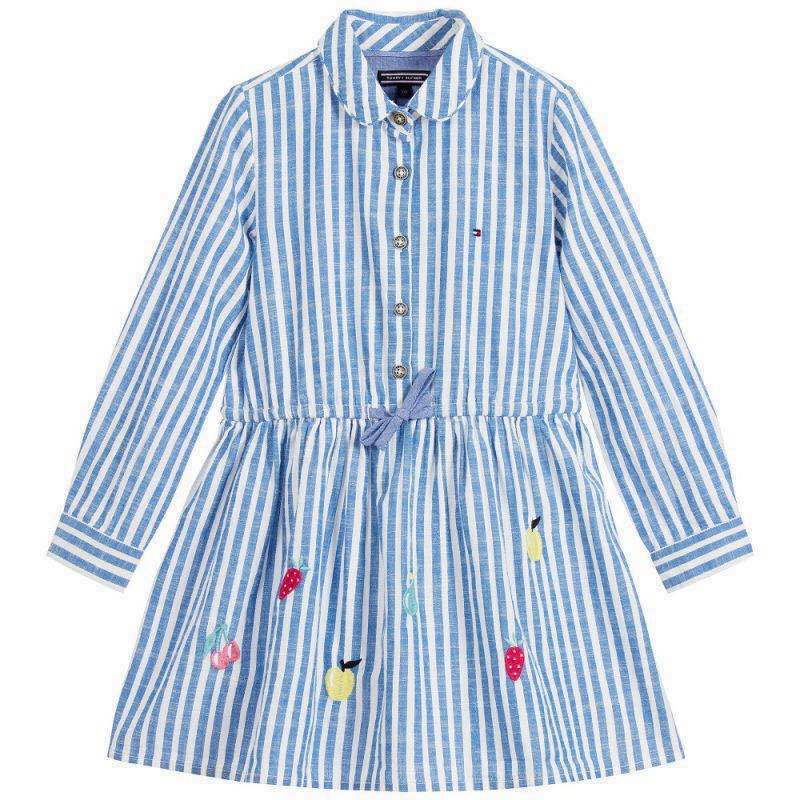 Children's casual wear 17 new girls in the Spring Season Cotton Striped long sleeved dress майка классическая printio slayer season in the abyss 1990